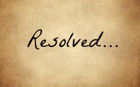 resolved 2